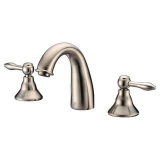 Dawn 3-Hole, 2-Handle Widespread Bullet Handle Brushed Nickel Lavatory Faucet