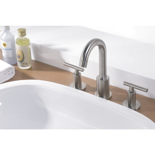 shop dawn chrome 3 hole 2 handle widespread lavatory faucet free