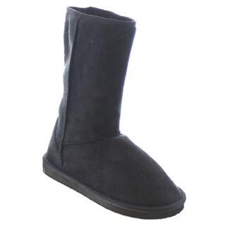 Beston EA19 Women's Cozy Faux Fur Lining Slip On Snow Boots