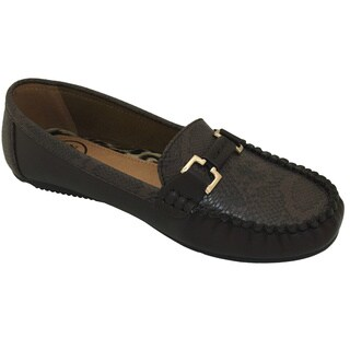 Women's Pebbled PU Leather Driving Moccasins