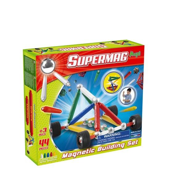 Supermag Maxi Wheels 44 Magnetic Building Set