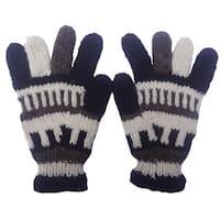 Handmade Knitted Woolen Fleece Lined Gloves (Nepal)