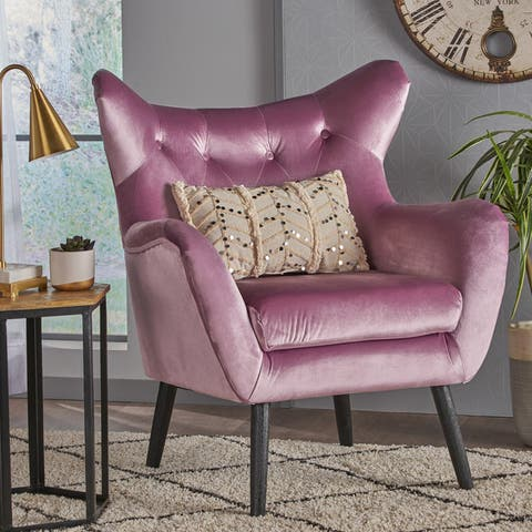 Alyssa Velvet Mid-century Arm Chair by Christopher Knight Home