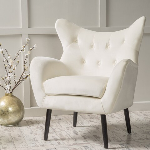 Alyssa Velvet Arm Mid-century Style Chair by Christopher Knight Home