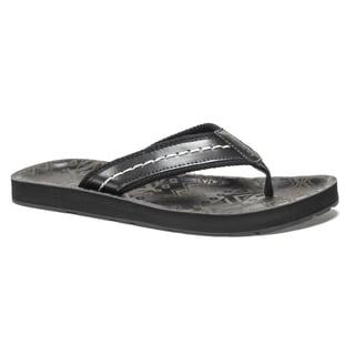 Muk Luks Men's Black Silas Flip Flops