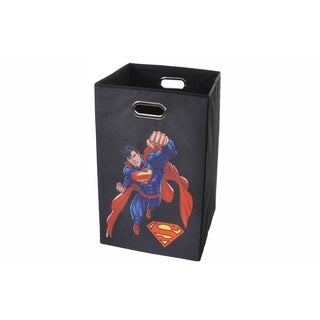 Superman Black Folding Laundry Basket