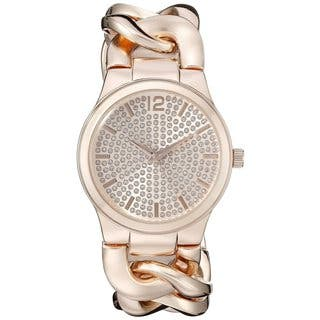 Vernier Paris Women's Pave' Crystal Dial Chain Link Watch|https://ak1.ostkcdn.com/images/products/10773825/P17824157.jpg?impolicy=medium