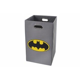 Batman Logo Gray Folding Laundry Basket
