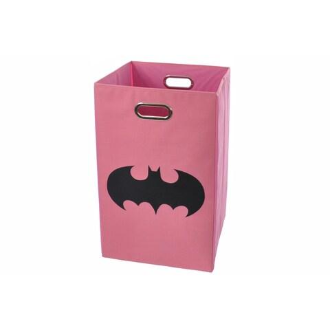 Batman Shield Pink Folding Laundry Basket