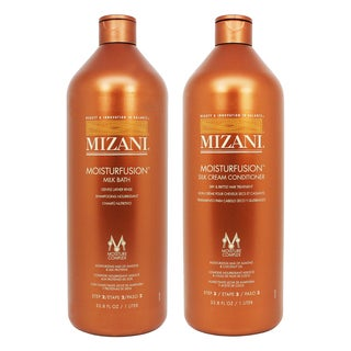 Mizani Moisturfusion Milk Bath and Silk Cream Conditioner 33.8-ounce Set (Set of 2)