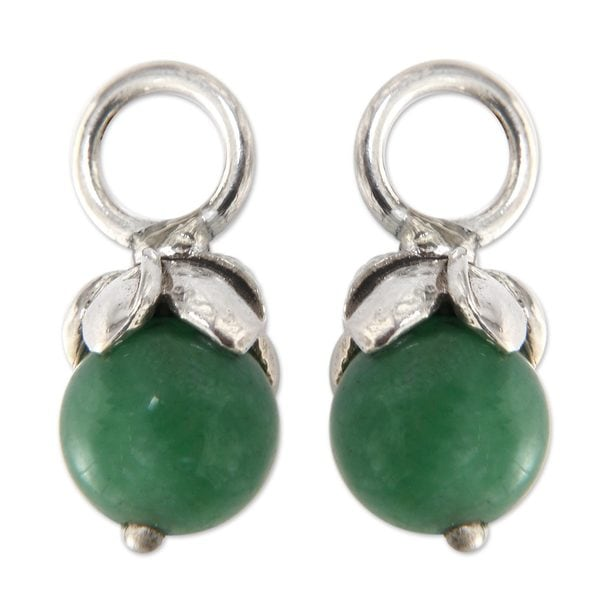 Handmade Sterling Silver X27 Budding Chance Aventurine Earring Charms