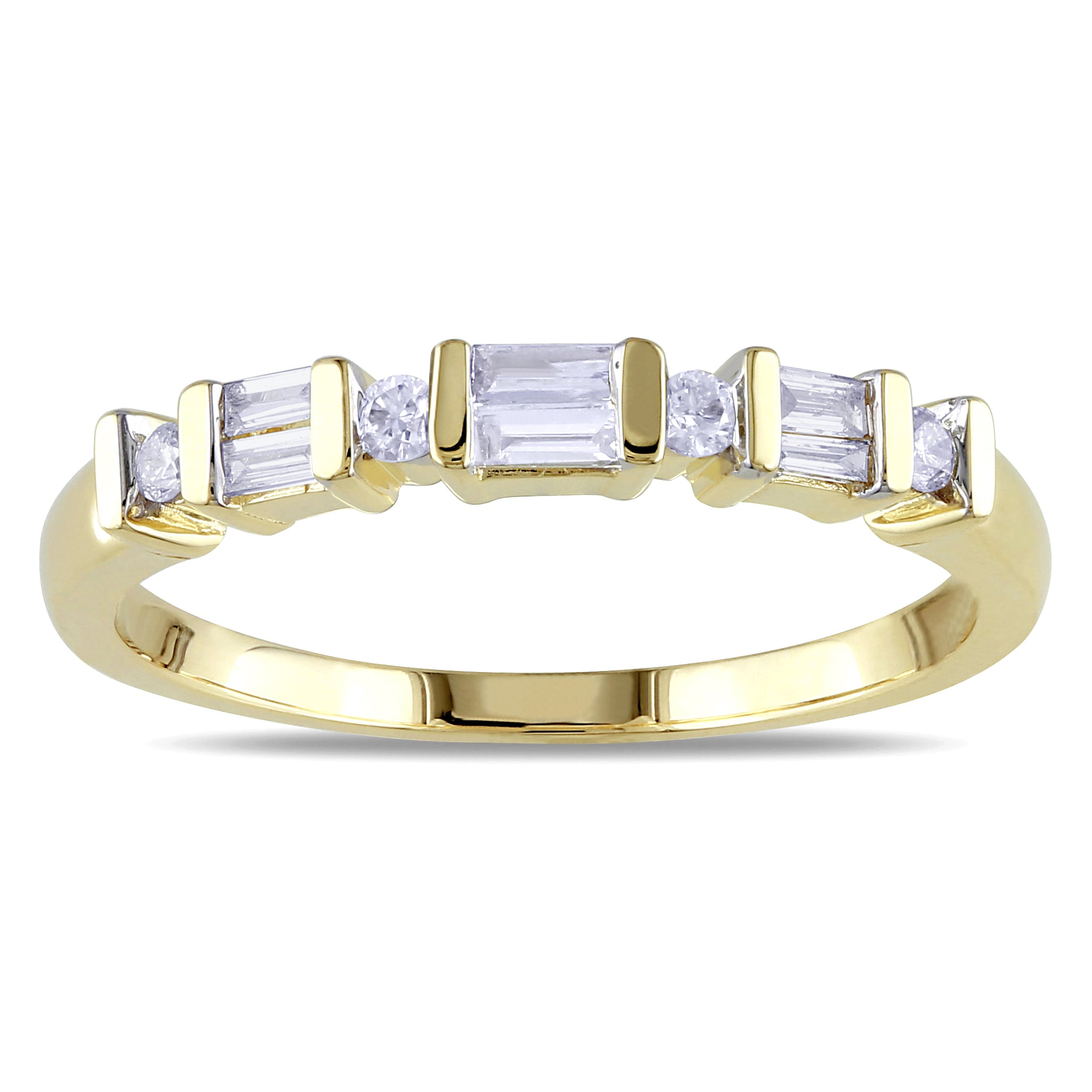 G-H,I2-I3 1//5 cttw, Size-8.75 Diamond Wedding Band in 10K White Gold