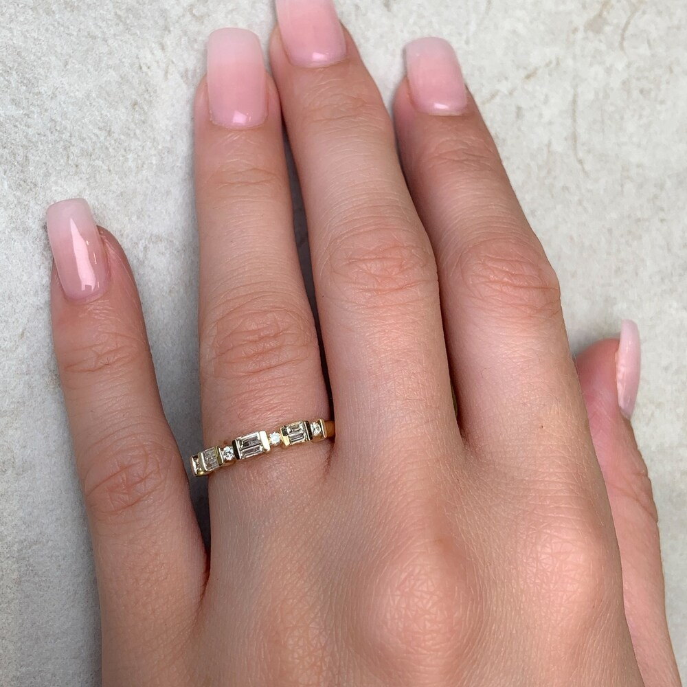 1//6 cttw, G-H,I2-I3 Size-11.75 Diamond Wedding Band in 10K Pink Gold