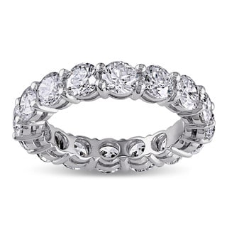 18k White Gold 4ct TDW Diamond Eternity Ring (H-I, SI1-SI2) by Miadora Signature Collection