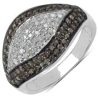 Malaika .925 Sterling Silver 1/2ct TDW Genuine Diamond Ring ( I2-I3)
