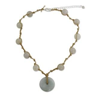 Handmade Sterling Silver 'Independent Spirit' Jade Necklace (Thailand)