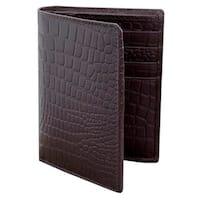 Handmade Leather 'Brown Crocodile' Wallet (India)