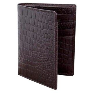 Handmade Leather 'Brown Crocodile' Wallet (India)