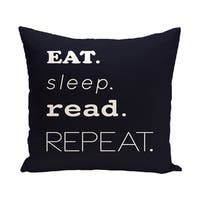 My Mantra Word Print 20-inch Outdoor Pillow