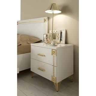 Luca Home Victorian 2 drawer Nightstand