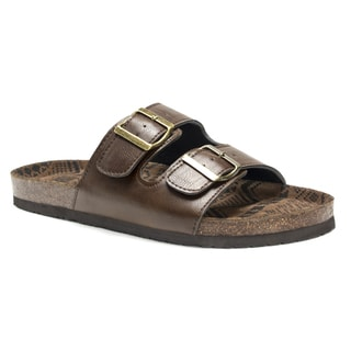 Muk Luks Men's Brown Parker Sandals