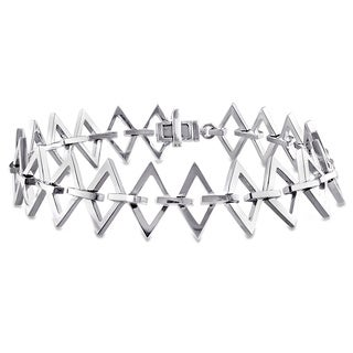 V1969 ITALIA Logo Ladder Bracelet in Sterling Silver