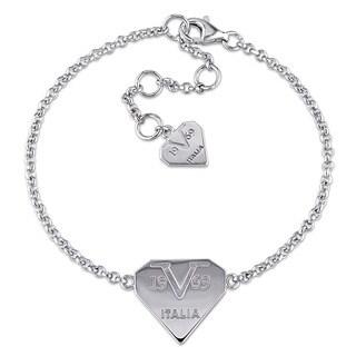 V1969 ITALIA Logomark Bracelet in Sterling Silver
