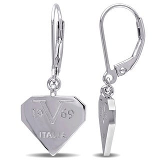 V1969 ITALIA Logomark Earrings in Sterling Silver