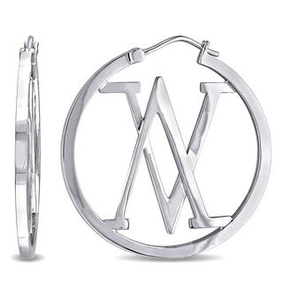 V1969 ITALIA Insignia Hoop Earrings in Sterling Silver