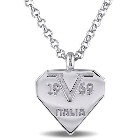 Miadora mark Necklace in Sterling Silver - White
