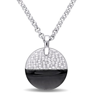 V1969 ITALIA Moonlight Necklace in Sterling Silver with Black Rhodium