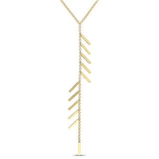 V1969 ITALIA Insignia Drop Necklace in 18k Yellow Gold Plated Sterling Silver