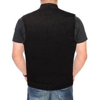 Men's Snap Front Denim Club Vest