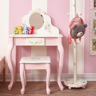Princess Vanity Table And Chair Set Free Shipping Today Overstock Com 12349587