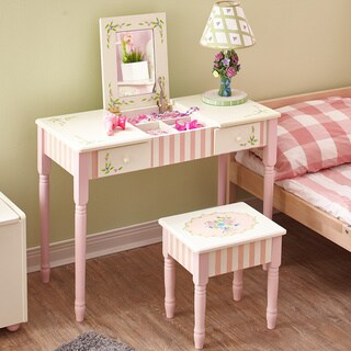 Fantasy Fields - Bouquet Vanity Table & Stool Set - Pink