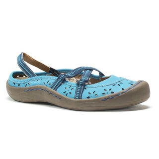 Muk Luks Women's Blue Erin Strap Shoes