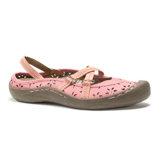Muk Luks Women's Pink Erin Strap Shoes