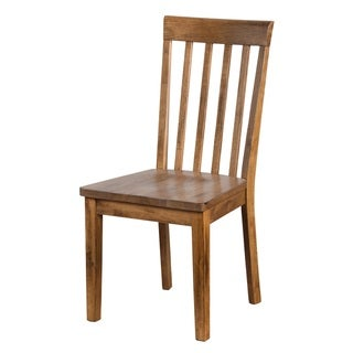 Sunny Designs Sedona Slatback Chair With Wooden Seat