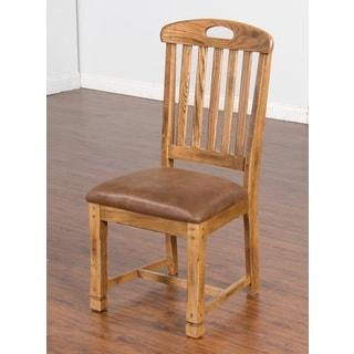 Sunny Designs Sedona Slatback Chair With Microfiber Seat.
