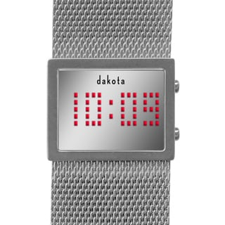 Dakota Women's Digital Mirror Mesh Band Watch