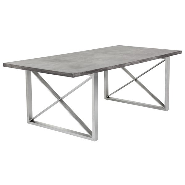 Shop Sunpan MIXT Catalan Dining Table Concrete On Sale Free - Concrete and metal dining table
