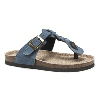 Muk Luks Women's Blue Marsha Sandals