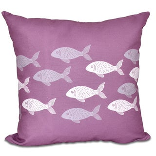 Fish Line Animal Print 16-inch Pillow