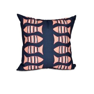 Something's Fishy Animal Print 16-inch Pillow