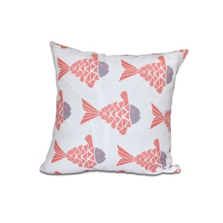 Fish Tales Animal Print 16-inch Pillow