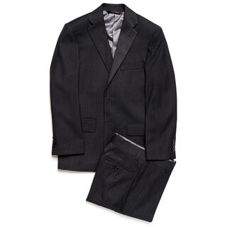 Caravelli Junior Boys' Grey Pinstripe 2-piece Suit In Grey Size 10H (As Is Item)