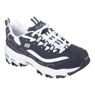 Women's Skechers D'Lites Sneaker Biggest Fan/Navy/White