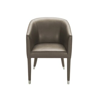 Sunpan '5West' Marcus Barrel Back Armchair in Leather