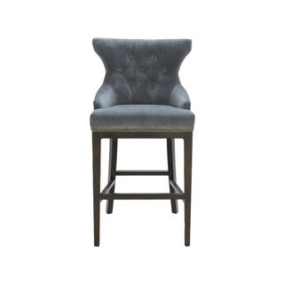 Sunpan '5West' Annabelle Transitional Tufted Barstool in Fabric