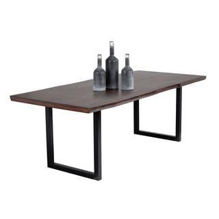 Zenn Sunpan Dixon Rustic-inspired Solid Acacia Wood Dining Table with Metal Base